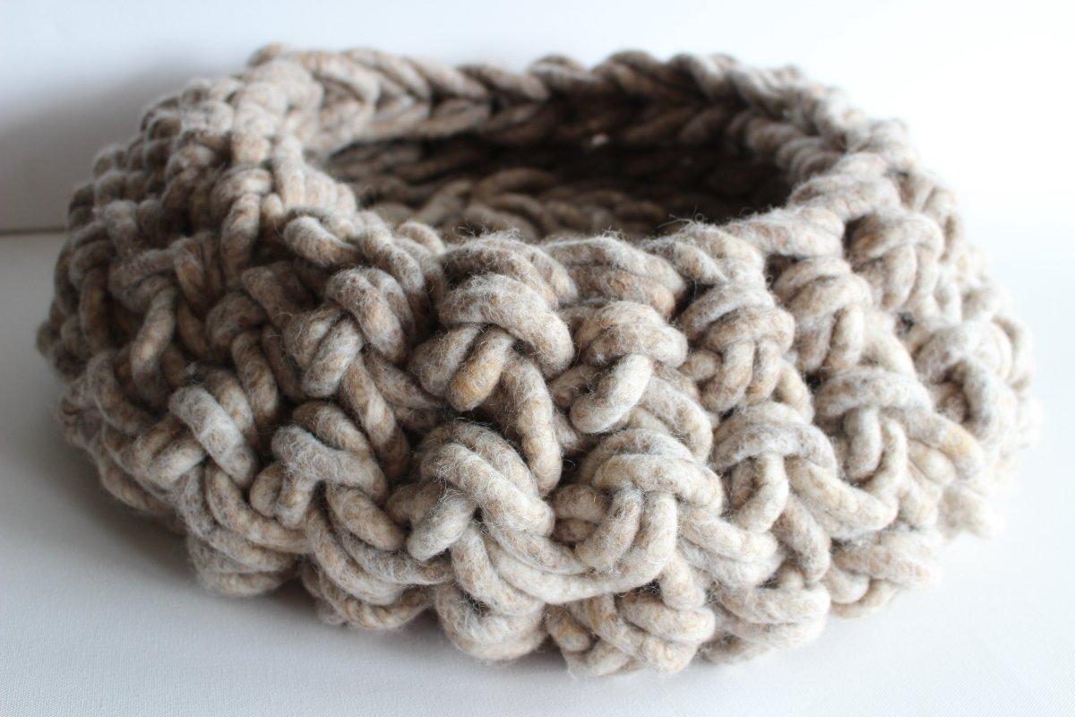 Wollkörbe aus Schafwolle