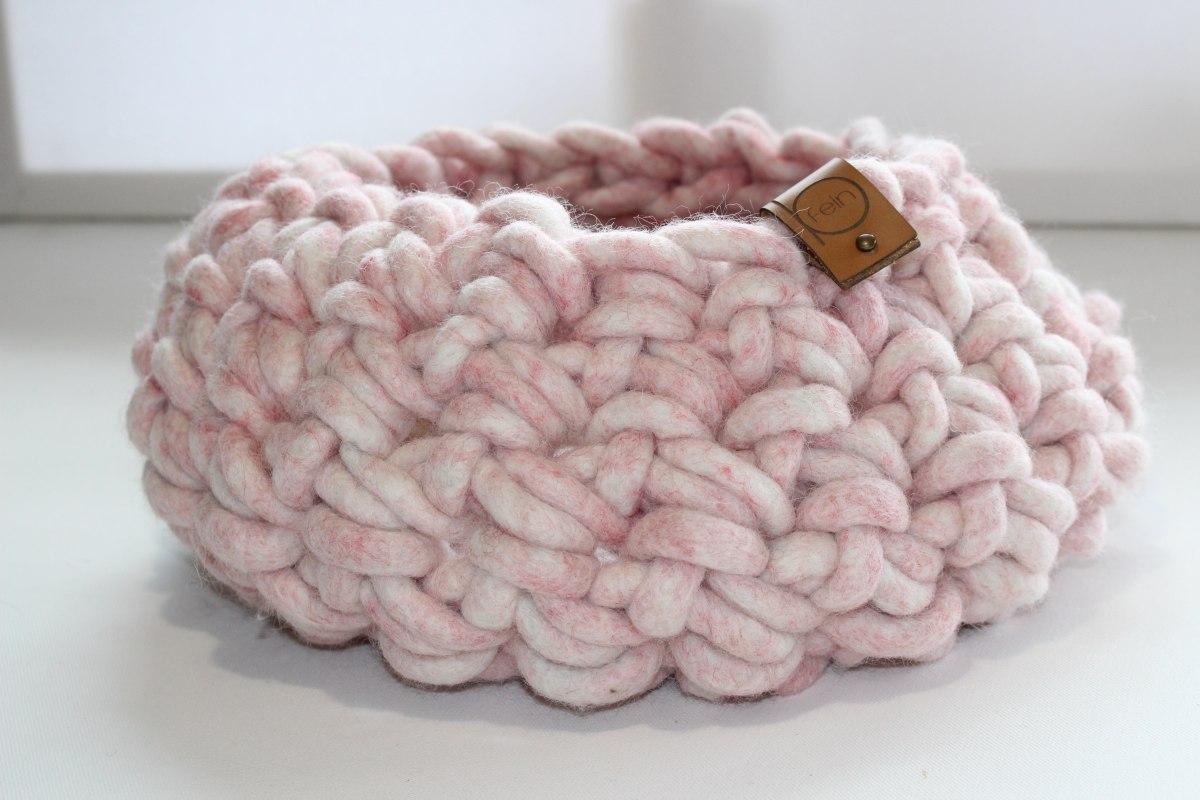 Wollkorb aus Schafwolle