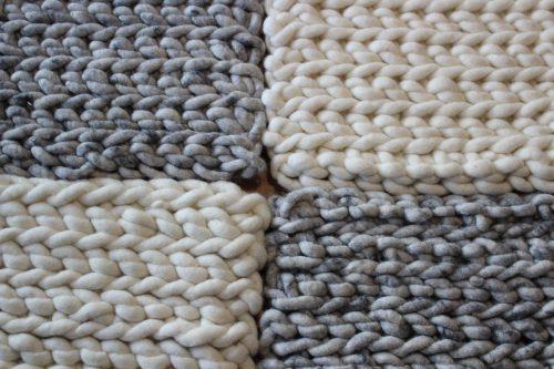 Sitzkissen aus Schafwolle